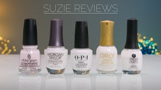 5 White Polishes Reviewed