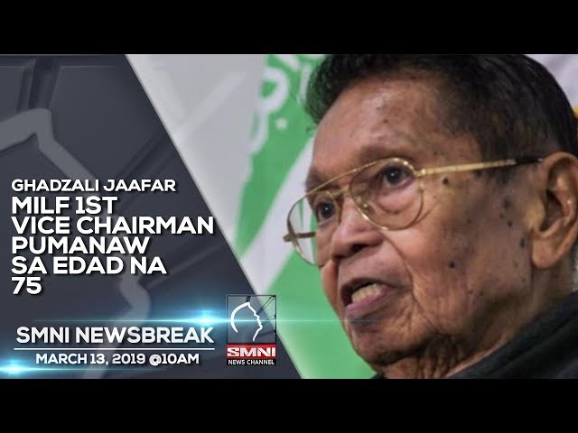 MILF 1ST  VICE CHAIRMAN PUMANAW SA EDAD NA 75 - SMNI NEWSBREAK MARCH 13, 2019 @10AM