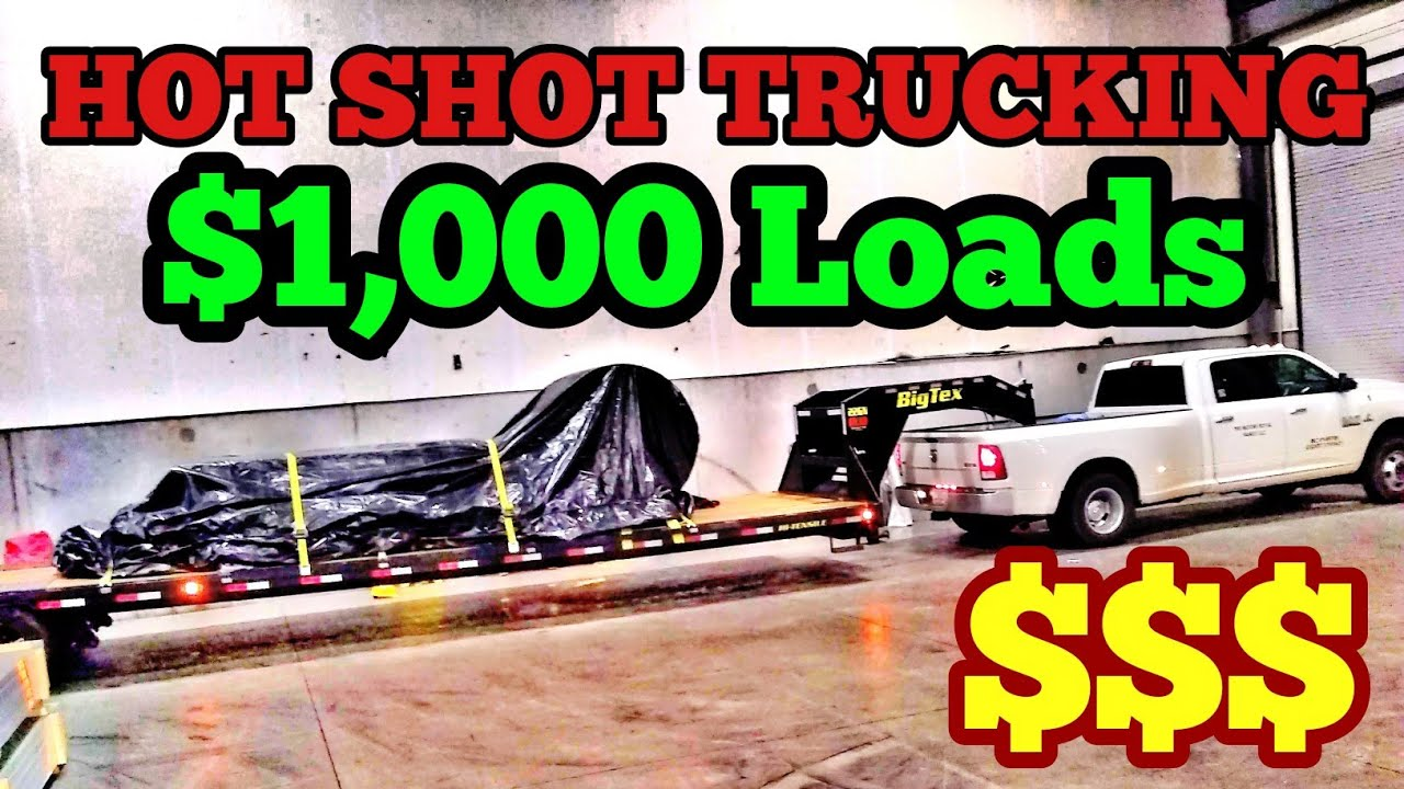 $1,000 Per Day Hot Shot Trucking, New Trucking Authority, Wired Freight  Dispatch Services