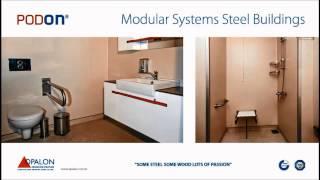 OPALON الجاهزة الحاويات الهيكل الصلب وحدات مرحاض دش بناء PODON