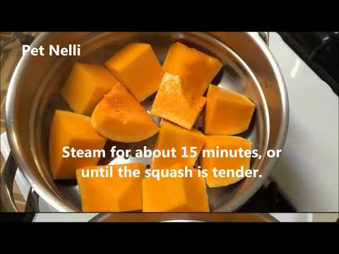How To Make Butternut Squash Puree For Babies /How To Make And Store Baby Food