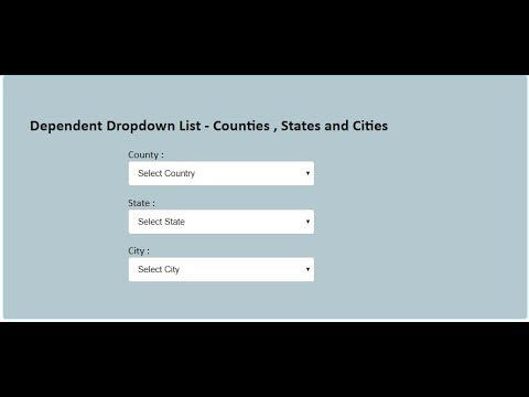 Dependent Drop Down List In Php And Mysql  ( Part 1)