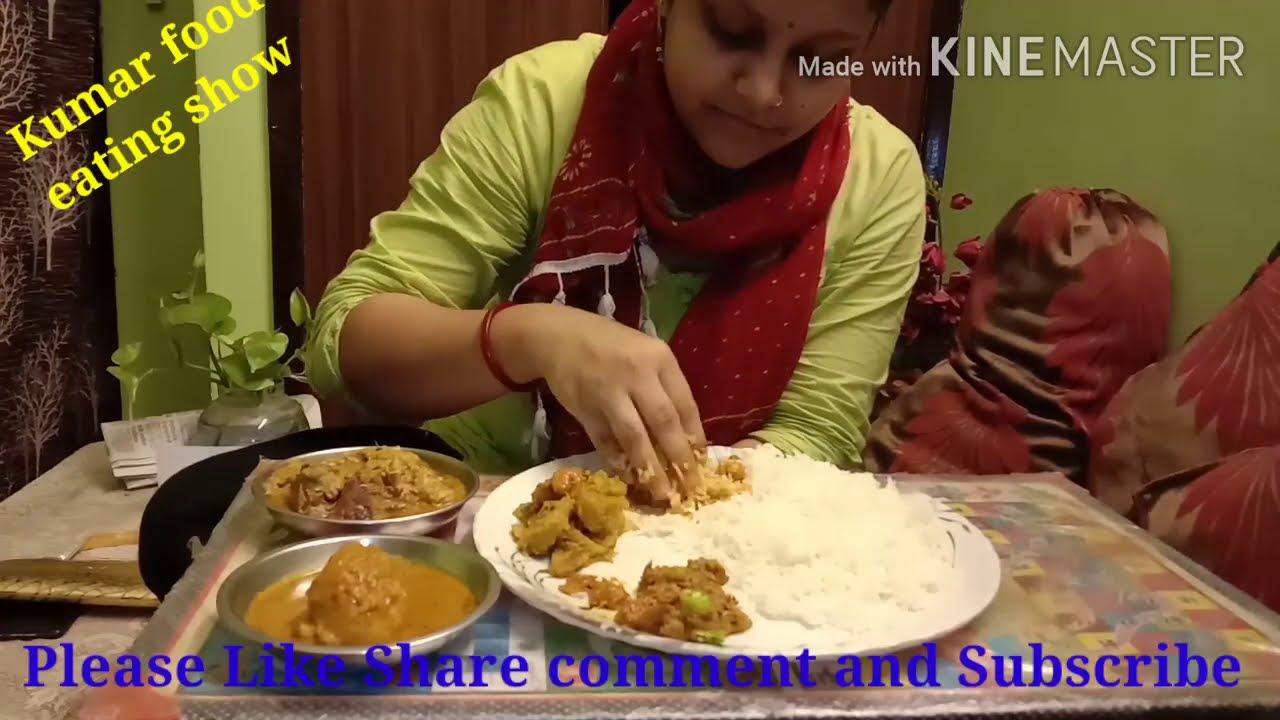 Non veg thali ..Rice ,Chingri masala,Chingri diye Kumro, Egg curry And Fish curry