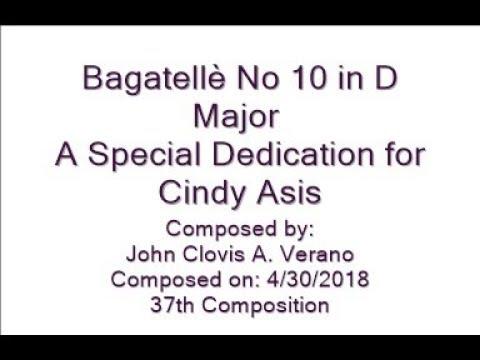 Bagatellè No 10 in D Major by: John Clovis A. Verano