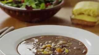 Soup Recipe - How To Make Vegan Black Bean Soup