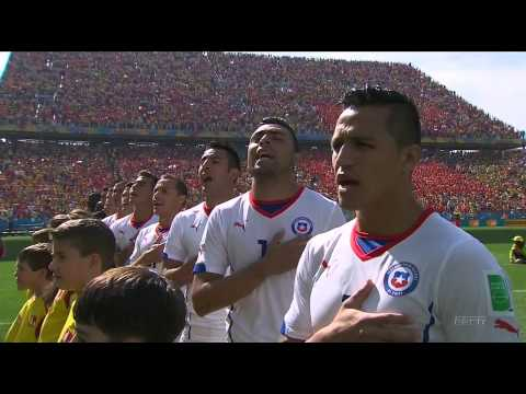 Netherlands vs. Chile World Cup 2014 National Anthems