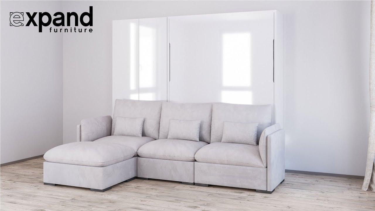 wall sofa argos 2 seater recliner murphysofa adagio luxury bed system youtube