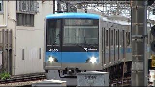 スイッチバック構造の藤沢駅に到着する小田急江ノ島線上り快速急行4000形