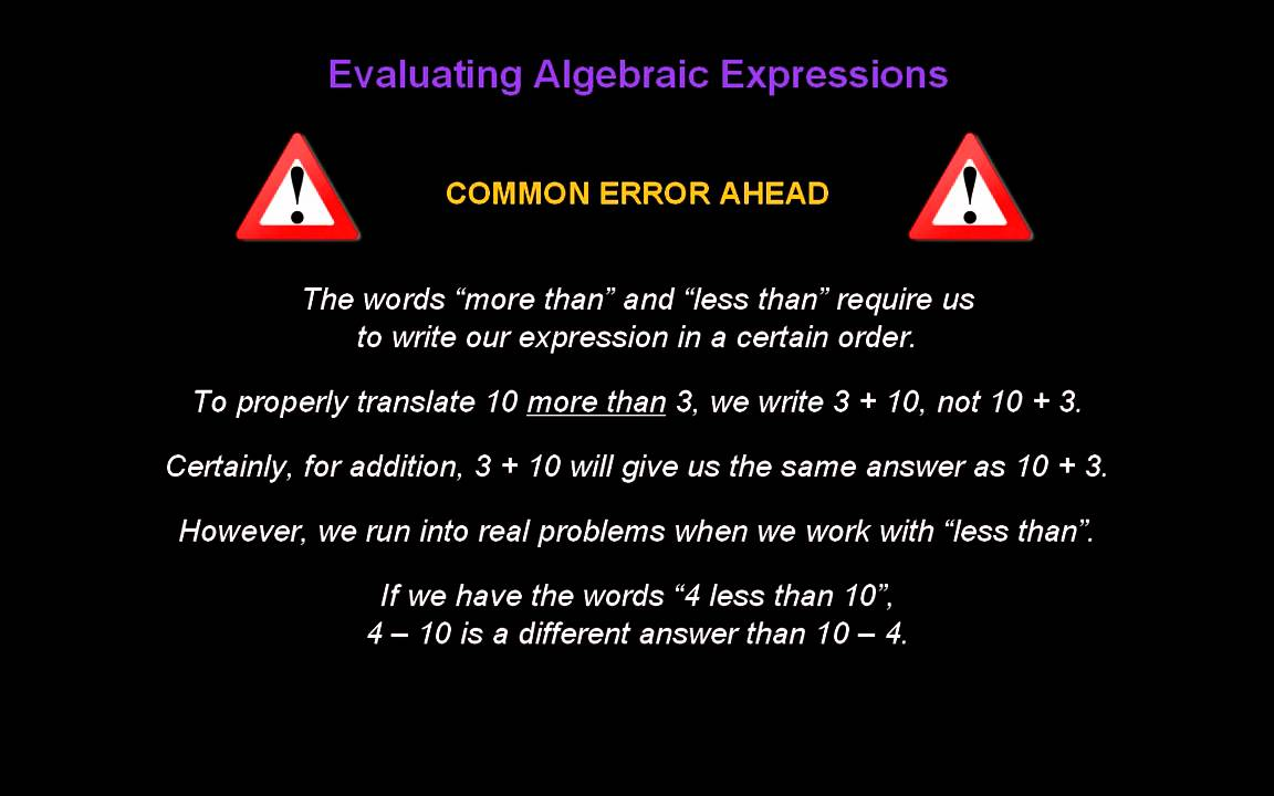 6th Grade Algebraic Expressions - Lessons - Tes Teach