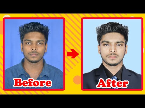 How To Make Passport Size Photo With Retouching And Suit Manipulation Tutorial Photoshop Cc