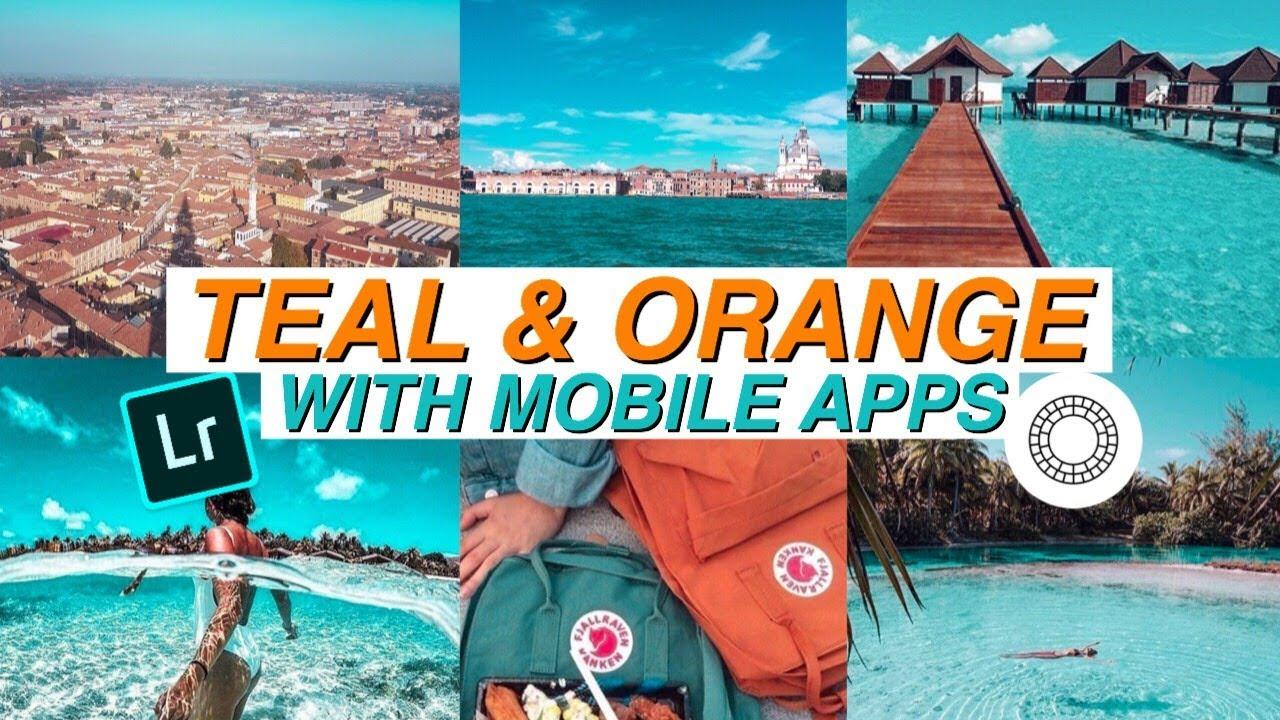 TEAL & ORANGE tone with Mobile Apps // Color Grading (Lightroom & Vsco)