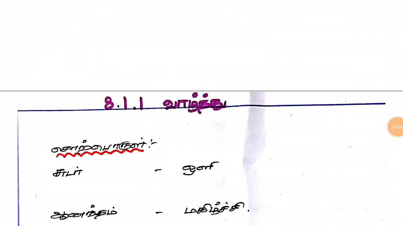 8TH STD TAMIL SEIYUL 1ST TERM SAMACHEER NOTES (VALTHU) TNPSC