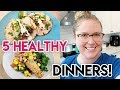 5 HEALTHY DINNER IDEAS! 🥗 FRESH SUMMER RECIPES ☀ WHAT'S FOR DINNER? 🍽 COOK WITH ME