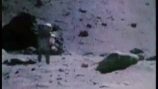 Apollo 17 astronauts singing and dancing on the Moon ( Amazing video )