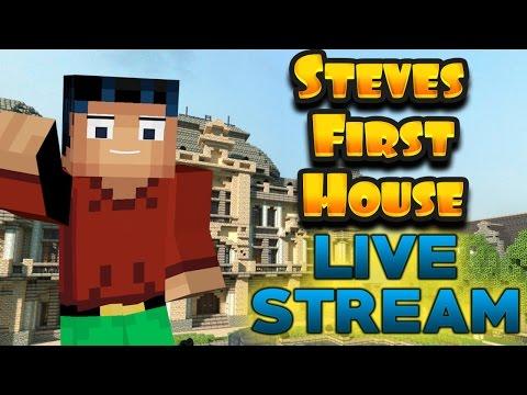 Minecraft Steve : Building My First House!!!