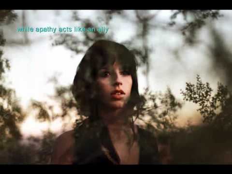 Brooke Fraser - Flags with lyrics on screen and pictures