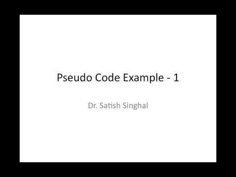 Pseudo Code Example
