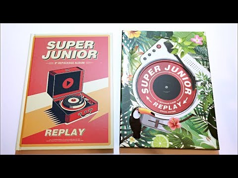 ELF Unboxes Super Junior 슈퍼주니어 8th Album Repackage Replay (Limited & Normal Edition)