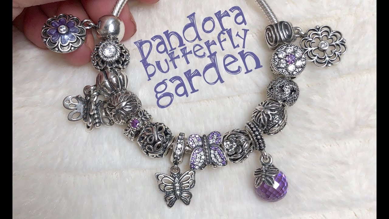 3ab86ec2e What's on my Pandora bracelet (Butterfly Garden) 🦋🦋🦋 - YouTube
