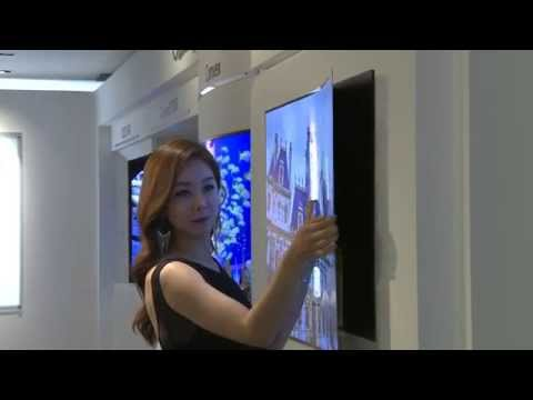 Una demo de la pantalla «fina como un papel» de LG