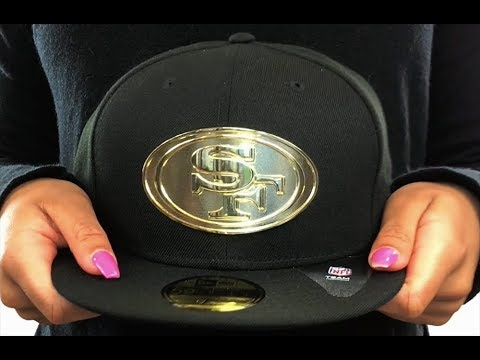 c4b031084 49ers 'GOLDEN-BADGE' Black Fitted Hat by New Era - YouTube