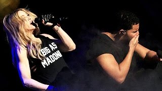 Madonna & Drake Kiss - Drake Totally Grossed Out