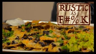 Homemade Guacamole And Nachos - Rustic As F#%k