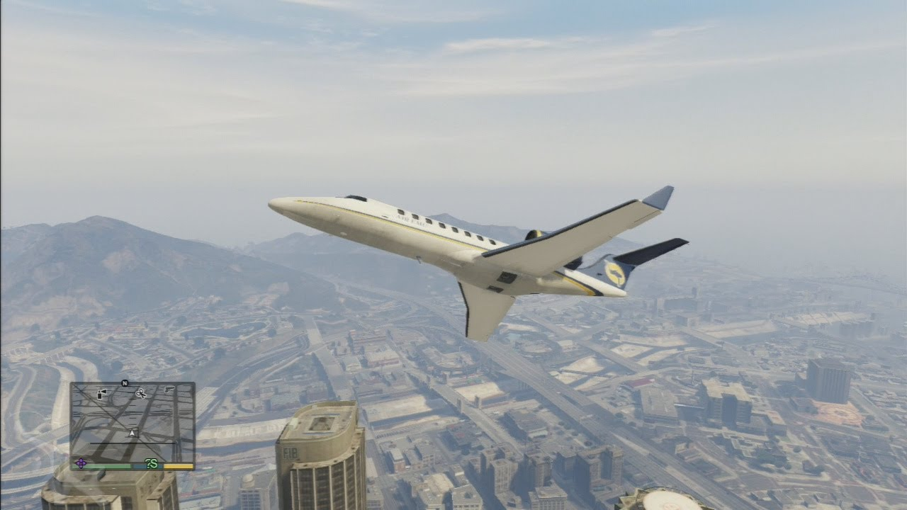 Jet Privato Gta 5 : Gta v flying a private jet youtube