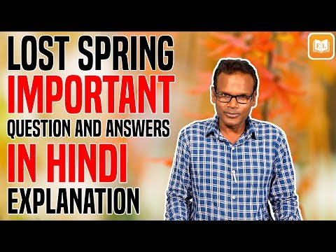 lost-spring-class-12-|-important-question-and-answers-for-exam-|-hindi-explanation