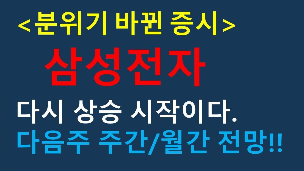 삼성전자 증시의 흐름 변화!! [7월13일], 다음주 주간/월간 전망!!