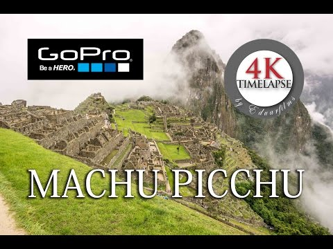 4K Timelapse (GoPro Hero 4) - Machu Picchu - One Take (Stock Footage)