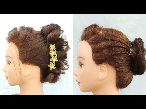 Amazing & quick Wedding guest hairstyles || #new bun haiestyle for wedding,party,function,occasion