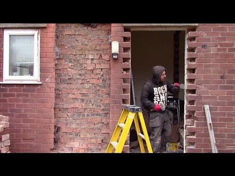 How to move and brick up a door  YouTube