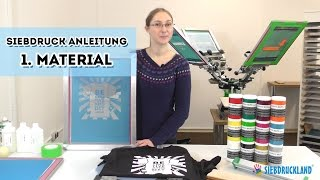 Siebdruck selber machen Anleitung Teil 1 - Zubehör für den Textildruck