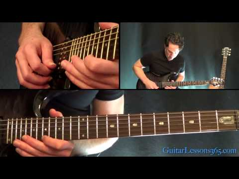 Unchained Guitar Lesson Pt.2 - Van Halen - Main Solo & Breakdown