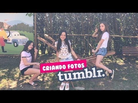 CRIANDO FOTO TUMBLR COM AS AMIGAS - CAROL SANTINA