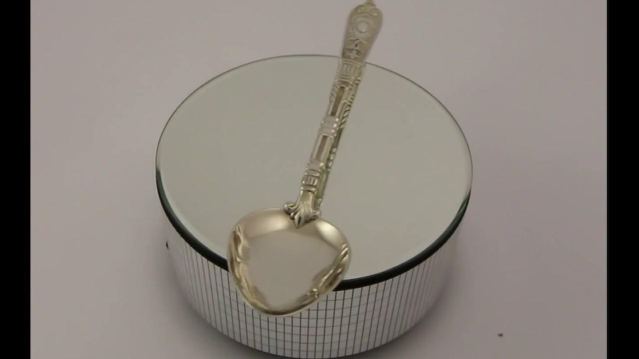 Серебряная чайная ложка Визит - YouTube