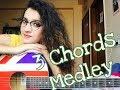 Bollywood Songs Medley on 3 chords  / female guitar cover - Jannat Khan