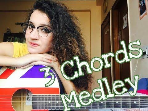 Bollywood Songs Medley on 3 chords/ female guitar cover - Jannat Khan
