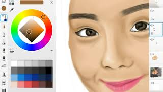 SketchBook Pro (Android) Mira Filzah Time Lapse Drawing