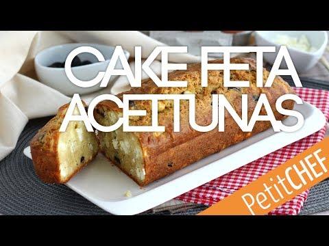 Receta cake de aceitunas negras y feta | Petitchef