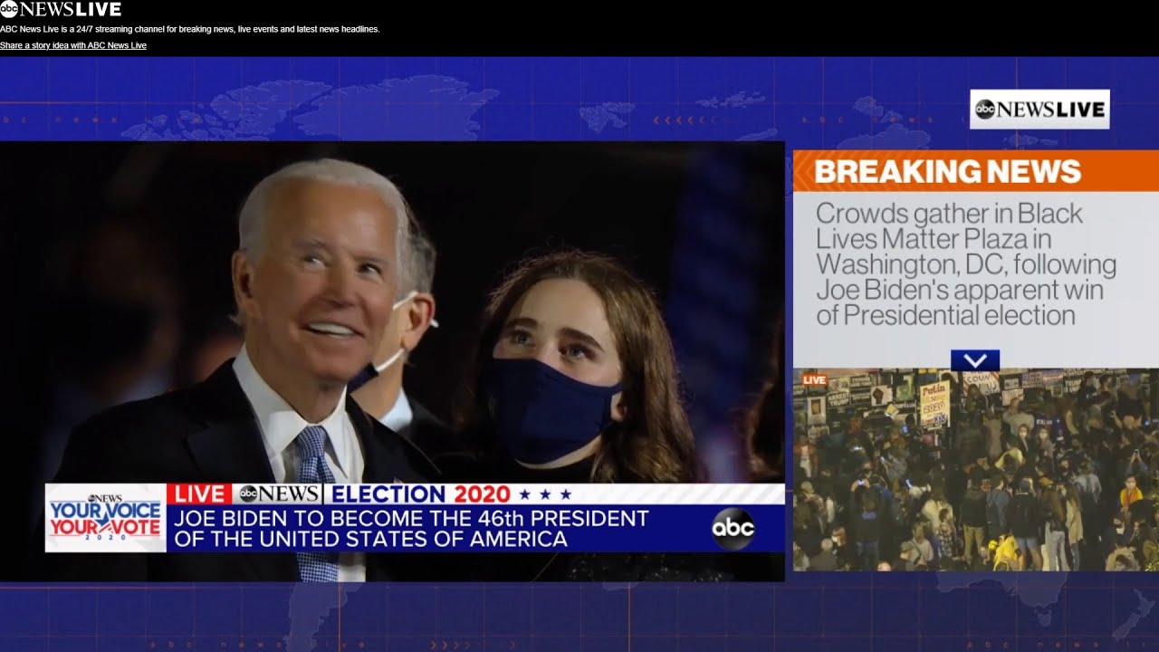 ABC NEWS JOE BIDEN U.S. Presidential Election Victory(조 바이든 미국 대통령 당선)