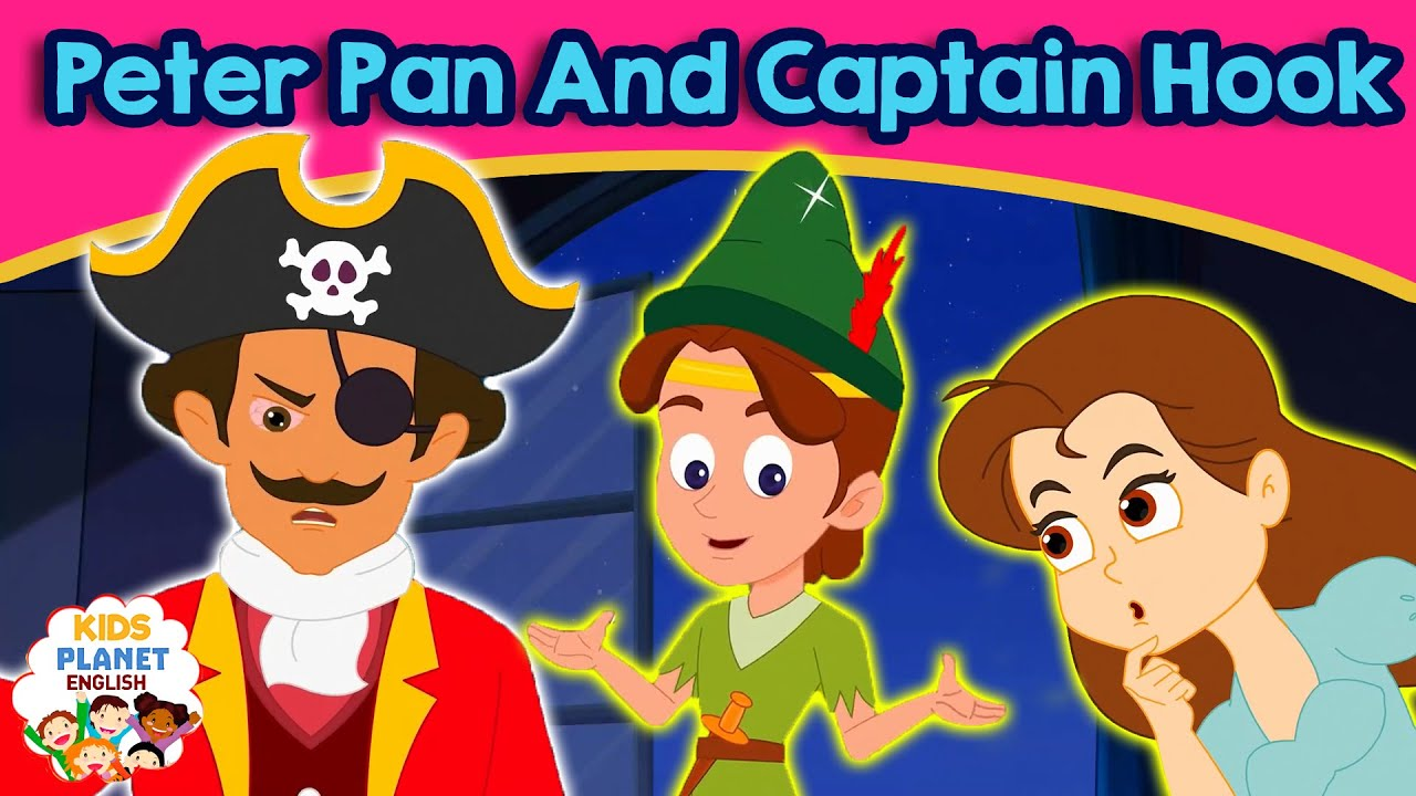 peter pan and captain hook - bedtime stories | kids story