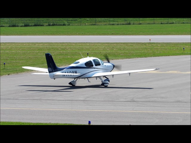 Cirrus SR22 Taxi and Takeoff at William T. Piper Memorial Airport