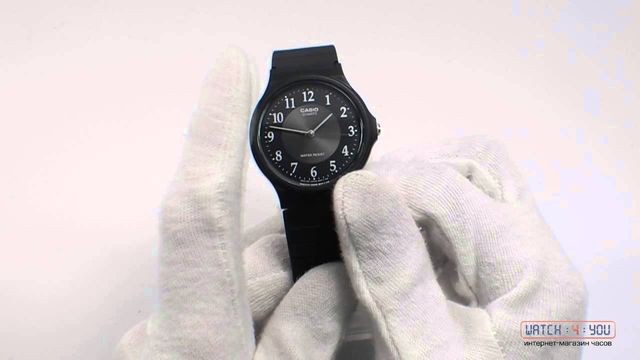 Обзор <b>мужских</b> часов <b>Casio MQ</b>-<b>24</b>-1B3LLEF - YouTube