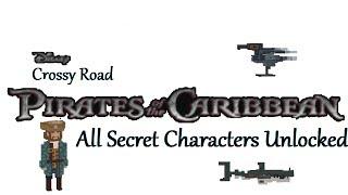 Disney Crossy Road: Pirates of the Caribbean Dead Men Tell No Tales All Secrete Characters Unlocked