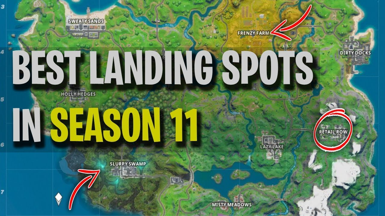 Fortnite Season 11 Chapter 2 Best Landing Spots With Analysis Win Every Game