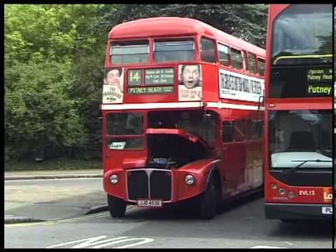 London Routemaster buses on Routes 14 & 22 around Putney
