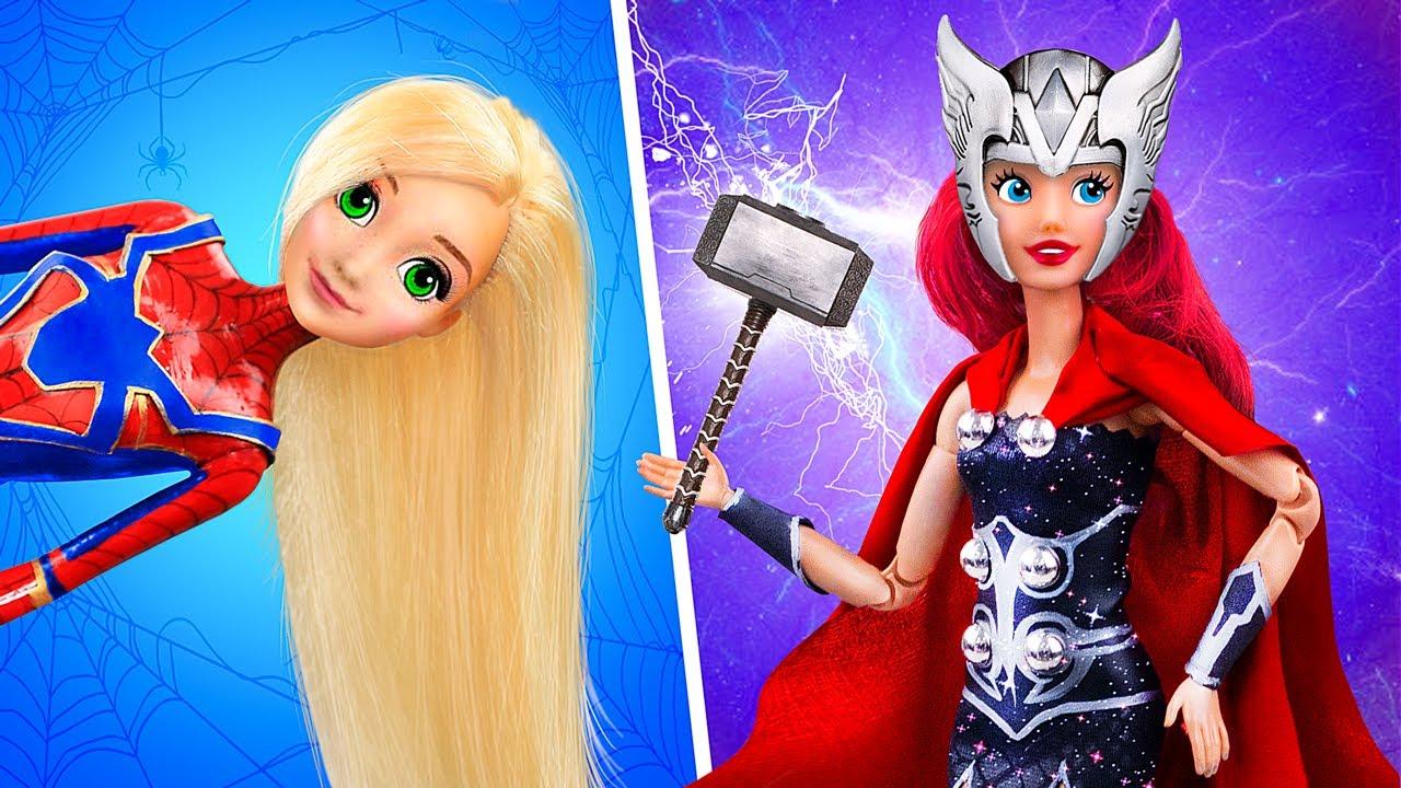11 Trik Dan Kreasi Kerajinan Boneka Barbie Dan Disney Pahlawan Super