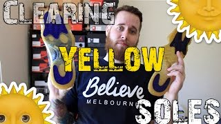 How To Deoxidize Jordan Soles (Yellow Clearing) | xChaseMaccini